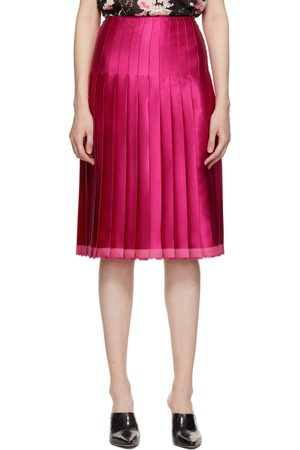 Commission Pink Pleated Scarf Skirt