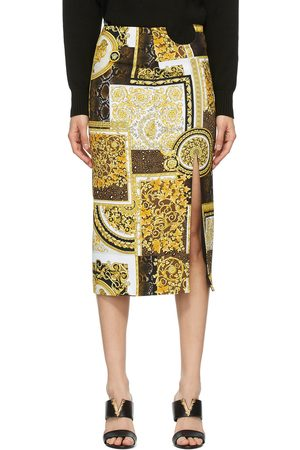 VERSACE Gold Pattern Skirt