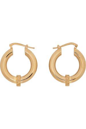 VERSACE Men Earrings - Gold Small Greca Hoop Earrings