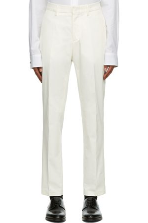 Dunhill White Cotton Stretch Chinos