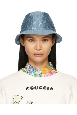 Gucci Women Hats - Blue Lamé GG Bucket Hat