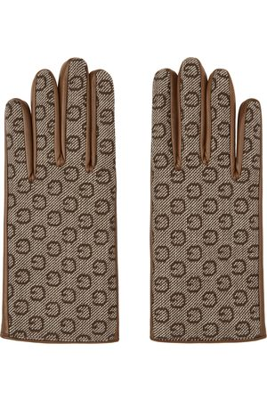 Gucci Brown Leather & G Gloves