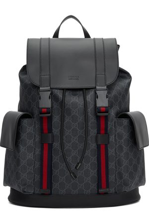 Gucci Men Suitcases - Black Soft GG Supreme Backpack