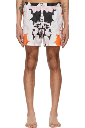 Valentino Black & Pink World Arazzo Print Swim Shorts