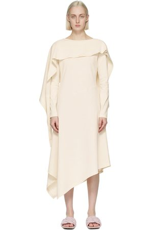 JW Anderson Off-White Draped Asymmetric Dress