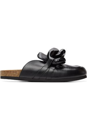 JW Anderson Men Loafers - Black Chain Loafers