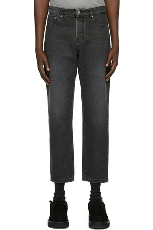 AMI Alexandre Mattiussi Black Tapered Fit Jeans