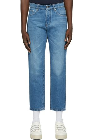 AMI Alexandre Mattiussi Men Tapered - Blue Tapered Fit Jeans