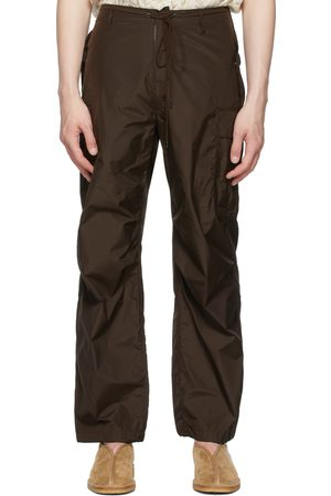 Auralee Brown High Count Fatigue Cargo Pants