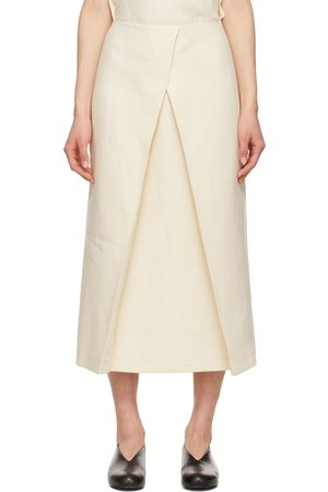 LE 17 SEPTEMBRE Women Skirts - Off-White Linen Front Layered Skirt