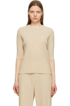 LE17SEPTEMBRE Wrinkle Short Sleeve Sweater