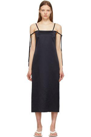 LE17SEPTEMBRE Silk Shoulder Tied Dress