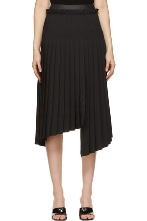 SYSTEM Asymmetric Pleat Skirt