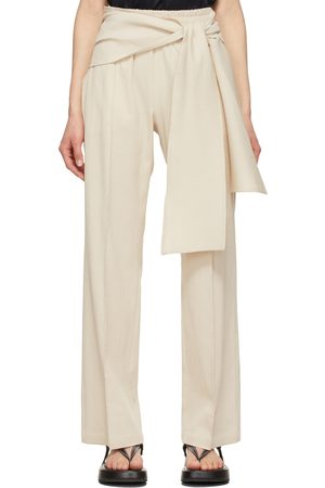 LE 17 SEPTEMBRE Off-White Easy Wrap Trousers