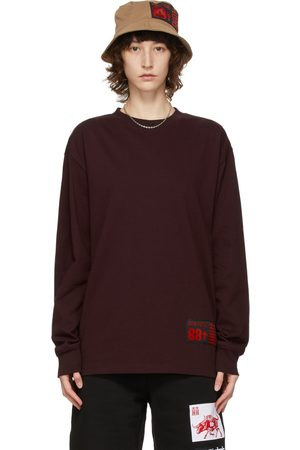 SSENSE WORKS Women Long Sleeve - SSENSE Exclusive 88rising Burgundy Ox Long Sleeve T-Shirt