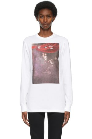 Off-White Sprayed Caravaggio Long Sleeve T-Shirt