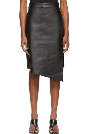 OFF-WHITE Women Leather Skirts - Leather Midi Skirt