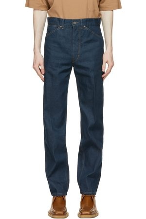 Lemaire Blue Japanese Denim Tapered Jeans