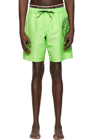 Versace Underwear Green Medusa Swim Shorts