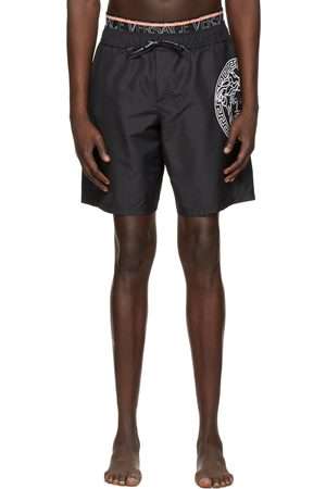 Versace Underwear Black Medusa Swim Shorts