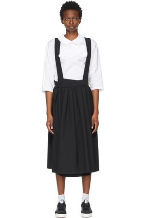 Comme des Garçons Black Pleated Asymmetric Shoulder Strap Skirt