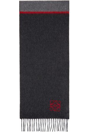 Loewe Grey & Red Window Anagram Scarf
