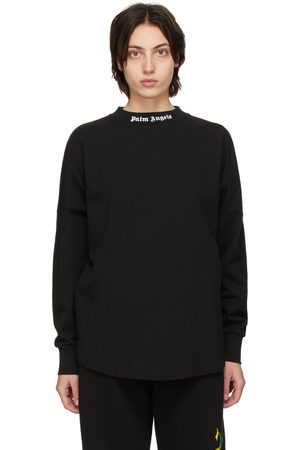 Palm Angels Black Classic Logo Long Sleeve T-Shirt