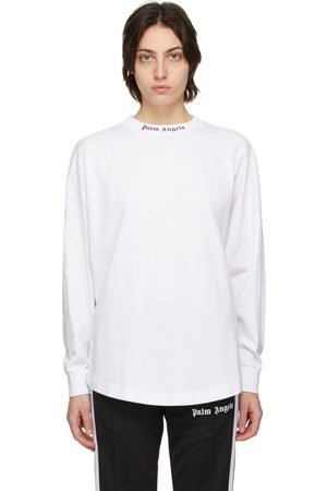 Palm Angels White Classic Logo Long Sleeve T-Shirt