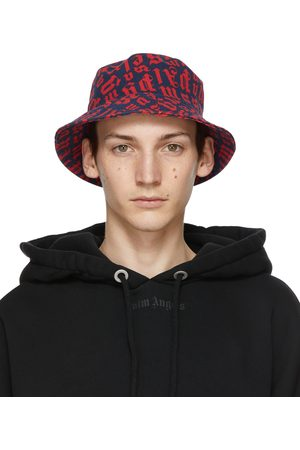 Palm Angels Navy & Red Monogram Bucket Hat