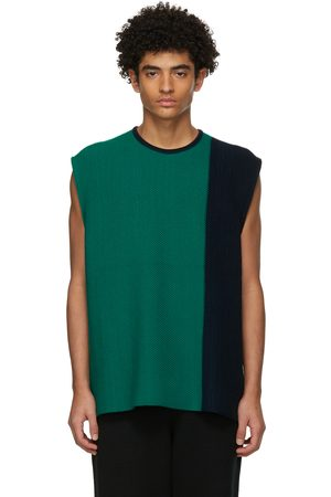 HOMME PLISSÉ ISSEY MIYAKE Green Combi Knit Tank Top