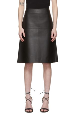 Totême Black Leather Double Sided Skirt