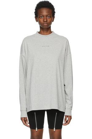 1017 ALYX 9SM Grey Visual Logo Long Sleeve T-Shirt
