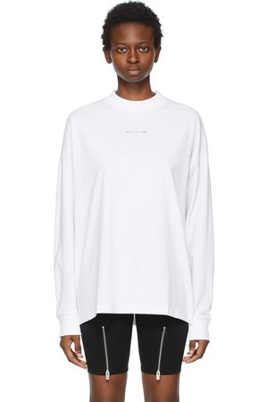 1017 ALYX 9SM White Visual Logo Long Sleeve T-Shirt