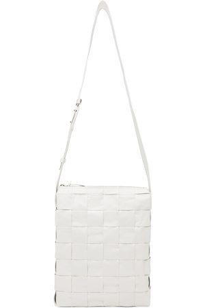 Bottega Veneta White Intrecciato Messenger Bag