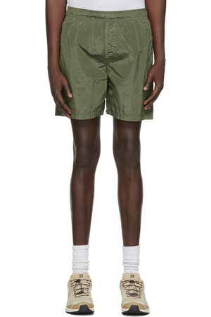 Stone Island Khaki Logo Patch Swim Shorts