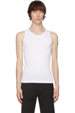 Alexander McQueen White Ribbed Tank Top