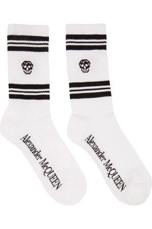 Alexander McQueen White Skull Sport Socks