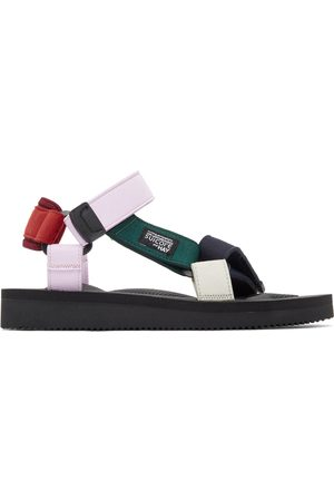 SUICOKE Red & Pink Hay Edition DEPA MIX H Urban Sport Sandals
