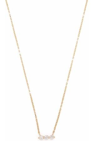 Dinny Hall 14kt yellow Shuga three stone diamond bar necklace