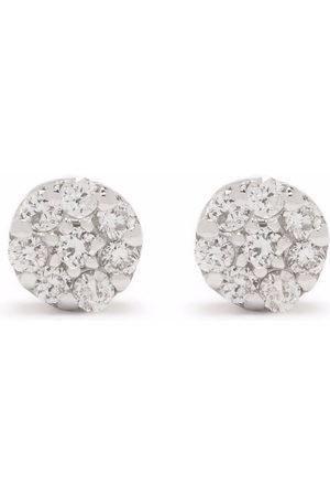 Dinny Hall 14kt white gold Shuga mini pave diamond stud earrings