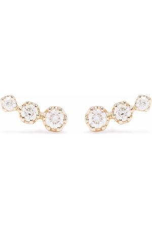 Dinny Hall 14kt yellow Elyhara diamond trio stud earrings