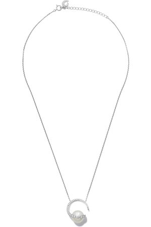 Tasaki Women Necklaces - 18kt white gold Aurora diamond and South Sea pearl pendant