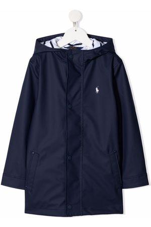 Ralph Lauren Pony logo hooded raincoat