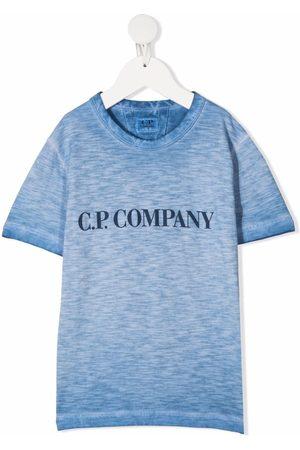 C.P. Company Logo-print marled jersey T-shirt