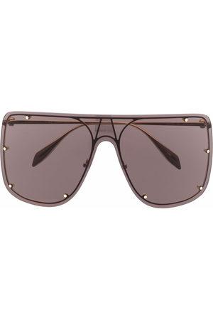 Alexander McQueen Stud-detail aviator sunglasses