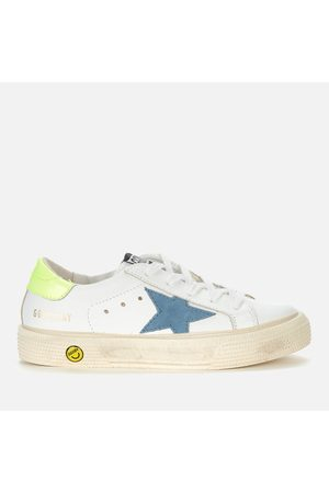 Golden Goose Kids' May Leather and Suede Trainers