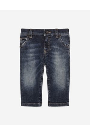 Dolce & Gabbana Trousers and Shorts - Regular-fit dark wash stretch jeans male 24/30