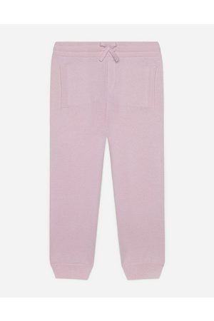 Dolce & Gabbana Boys Trousers - Trousers and Skirts - Cashmere jogging pants with heritage embroidery male 4