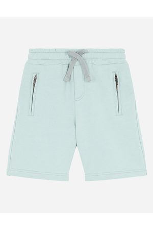 Dolce & Gabbana Boys Trousers - Trousers and Shorts - Jersey jogging shorts with logo tag male 2