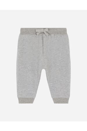 Dolce & Gabbana Trousers and Shorts - Jersey jogging pants with DG laurel patch male 6/9
